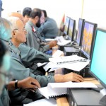 Kabul - An Afghan National Police (ANP) students study basic logistics training at the Afghan Ministry in Interior (MOI) August 1, 2010. The Afghan MOI is providing the first ever computer based logistics training for ANP personnel. (U.S. Air Force photo/ Staff Sergeant Matt Davis)